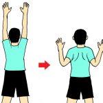 肩甲骨の意識を高めて、肩こりや頭痛の解消をめざす。