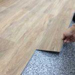 お店の床材、ジーロックフローリング(G-LOC FLOORING)E-03の施工~完成。