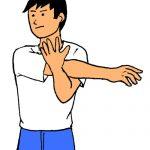 ゴルフスイングの練習で肩の三角筋を痛める。