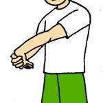 肘の外側の痛み。