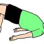 腰痛体操、腰と背筋を強化して、骨盤を整える。