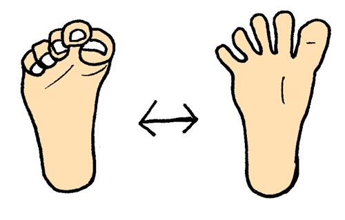 足のグーパー