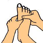 足をゆるめて、代謝を高めて冷え性を改善する。