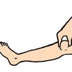 膝蓋骨をつまむ
