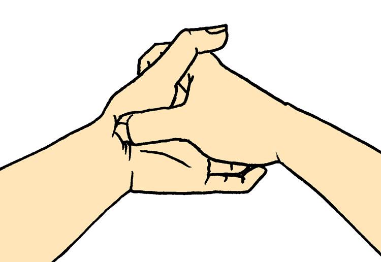 母指球のケア、はがし