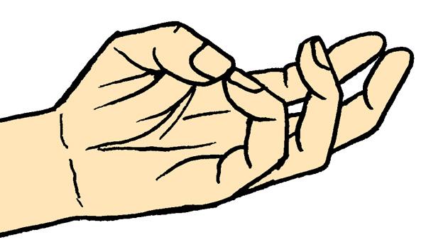 母指と小指の対立運動