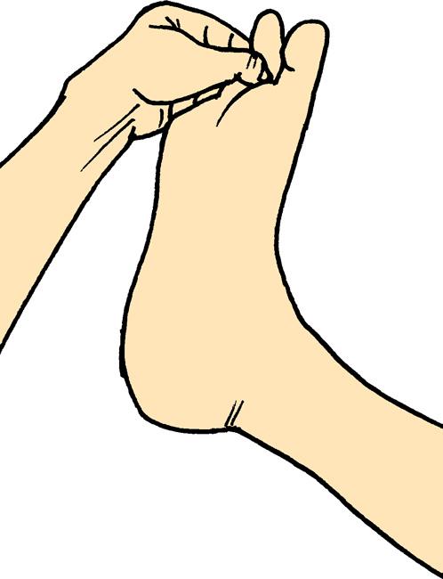 短指屈筋の腱、セルフケア