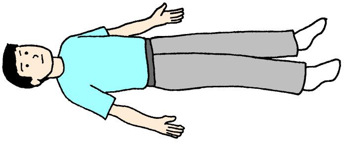 仰向けに寝る男の人のイラスト