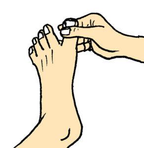 足の親指のケア